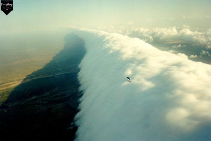 Roll cloud hang glider, Queensland, Australia  #cloud #queensland #australia