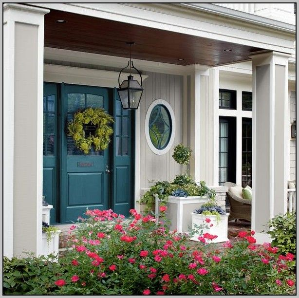 Best Color For Front Door With Beige Siding | Ideas for the House ...