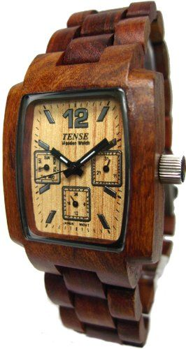Tense Wood Watches - Mens Sandalwood Watch (J8302S)
