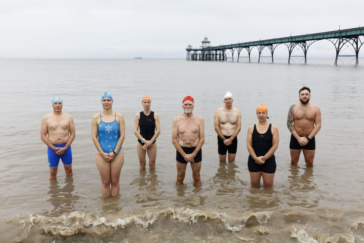 Clevedon swimming club, North Somerset, England. Shot by Martin Parr for BBC1's new idents
