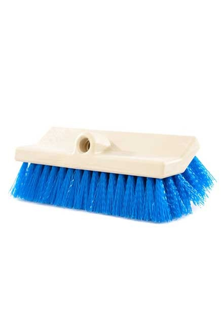 Dual level Scrub: Synthetic scrubbing floor brush.