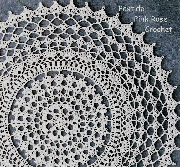 PINK ROSE CROCHET /: Toalhinha Redonda com Ponto Leques de Crochê