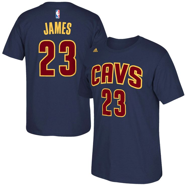 LeBron James Cleveland Cavaliers adidas Net Number T-Shirt – Navy Blue - $22.39