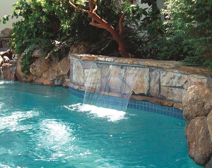 Wall Fountains Outdoor Pool with trees