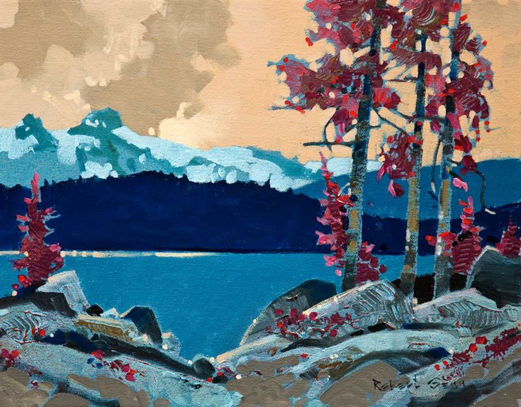 Arrow Lake Layby, by Robert Genn