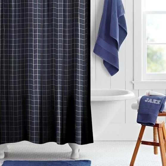 Boxter Plaid Shower Curtain | PBteen
