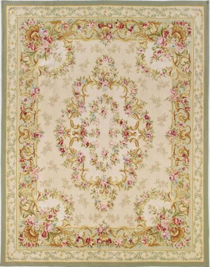 Brooke Aubusson Rug available @ CoachBarn.com has the strength and ageless beauty of the original French Aubusson weave. #coachbarn
