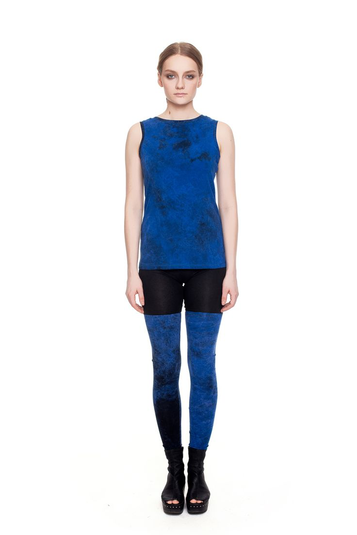 Double-color leggings, blue acid wash    #mariashi #fashion #russiandesigners #nofilter #outfit #outfitoftheday #outfits #outfitpost #clothes #fashionista #fashiondesigner #shopping