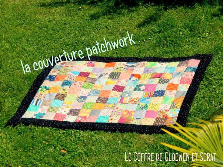 Tuto: Couverture patchwork facile à réaliser - Astuces et DIY couture Blanket patchwork