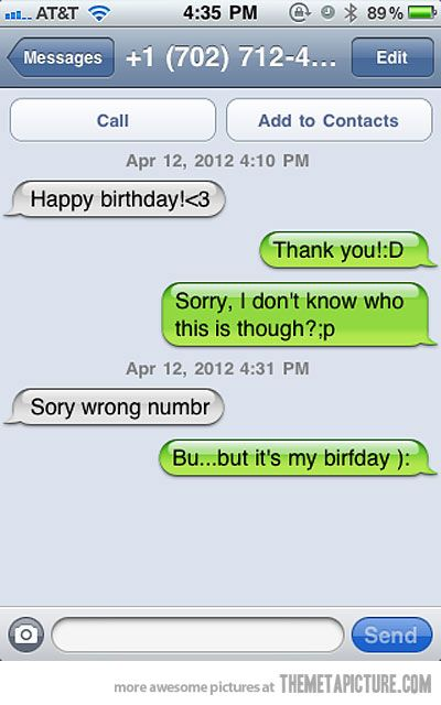 Sorry, wrong number…