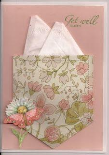 Kleenex card..Pretty card to CASE! I have some of this paper and the sentiment stamp :)