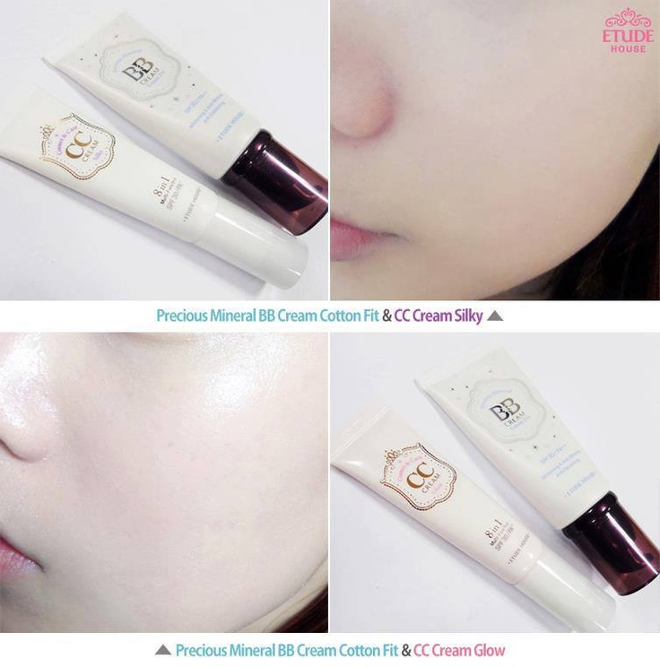 Wanna know the best way to use BB & CC Cream? Mix CC Cream Silky and BB Cream Cotton Fit to get bright and silky skin♥ Mix CC Cream Glow and BB Cream Cotton Fit and you'll have moist and powdery skin