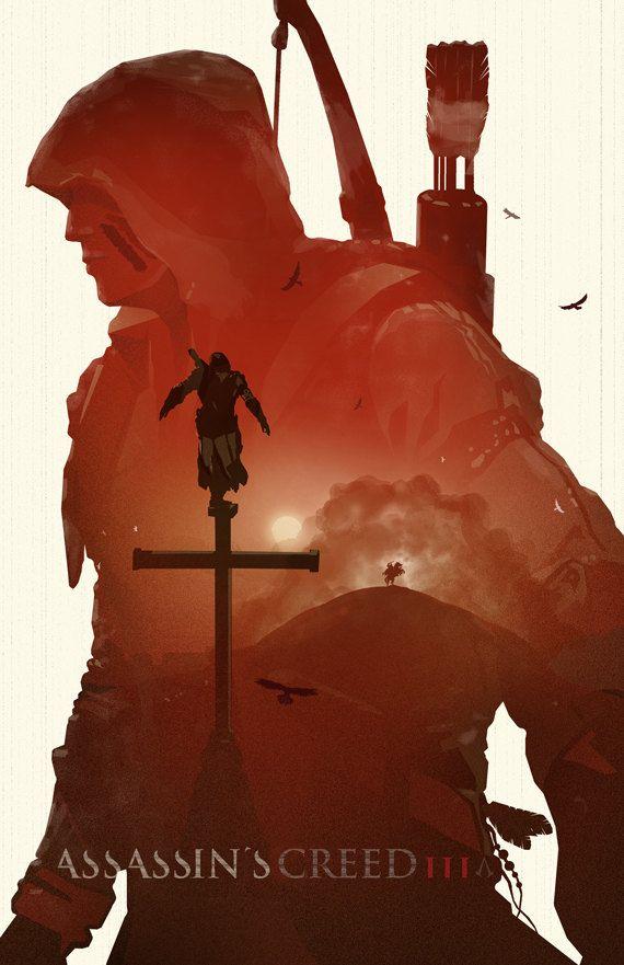 Assassins Creed 3 11x17 assassins creed assasins by bigbadrobot