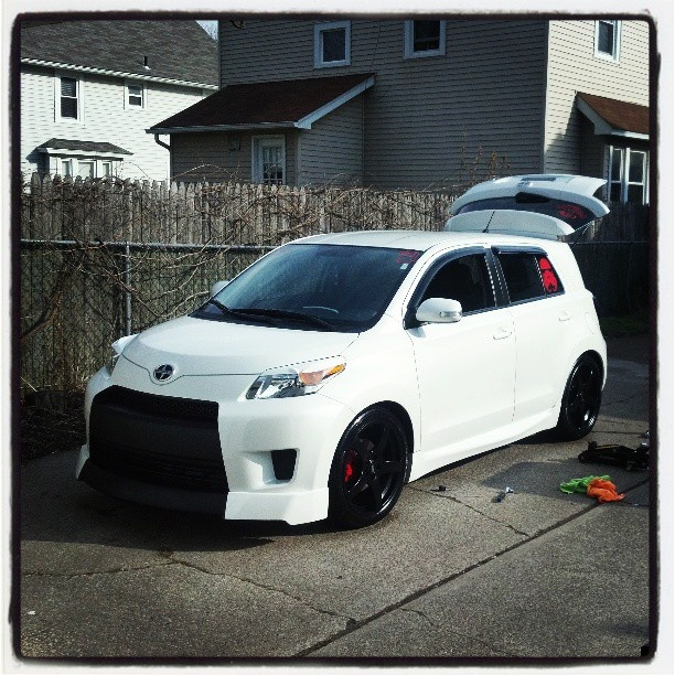 A great looking white Scion xD with the FIVE:AD aero kit!    Thanks @rstc120!