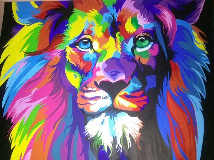 Le n colores en acr lico r plica m as pinterest - Colores en pintura ...
