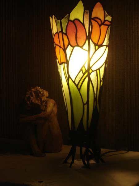 refletsdelumieres.fr - luminaires à poser - vitraux, luminaires et miroirs à Ouistreham.