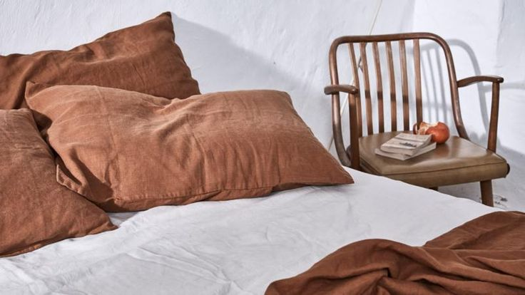 make an earth-coloured bedroom with IN BED & We Are Triibe's new collection. Photography by Terence Chin. Styling by We Are Triibe.