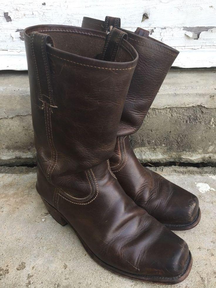 Vintage Frye Cavalry 87410 Boots Brown Men's 10.5    eBay