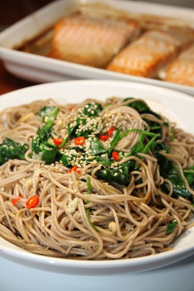 Soba noodles, Noodles and Spinach on Pinterest
