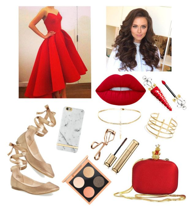 """İdil's Birthday"" by cavffeine ❤ liked on Polyvore featuring Moschino, BauXo, Lime Crime, Christian Louboutin, Steve Madden, Guerlain, Tweezerman, MAC Cosmetics and Richmond & Finch"