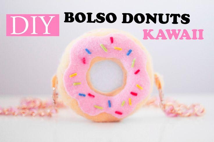 EasyChic: DIY - BOLSO KAWAII DONUTS/ROSQUILLA SIMPSONS RECICLANDO - TUTORIAL CON VIDEO - VERÓNICA❤