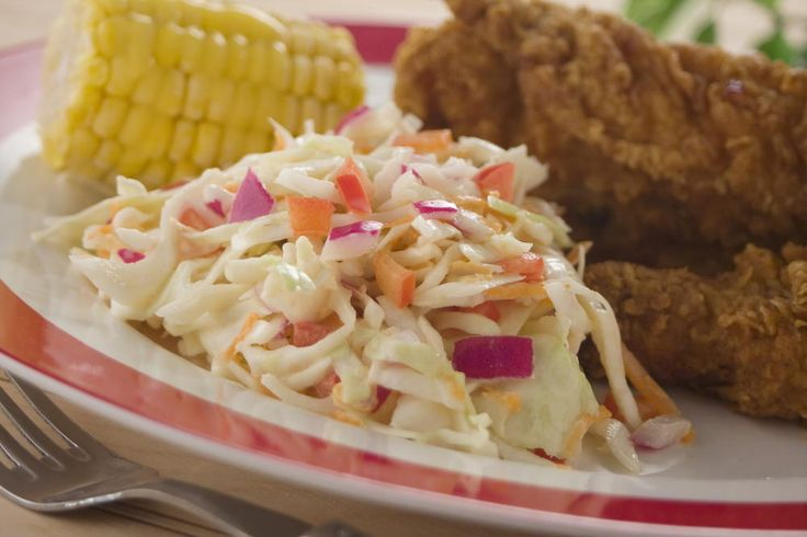 Down in the South they're famous for classic potluck dishes, like fried chicken and coleslaw. Our recipe for Southern Slaw is a lightened-up version of the way many Southern folks make their traditional coleslaw recipes at home.