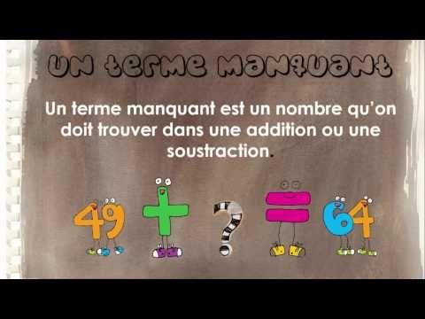 Capsule mathématique de Mélanie Tremblay sur les termes manquants. - YouTube