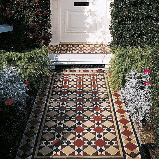 Restoring Victorian porch tiles | Celia Rufey's garden ideas and advice | housetohome.co.uk