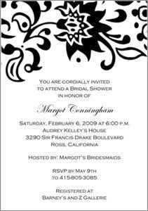 Bridal Shower Invitations Wording And Etiquette