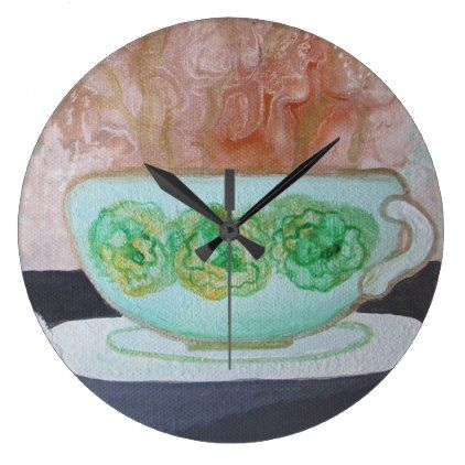 Coffee TIME Wall Clock Pun Intended - original gifts diy cyo customize