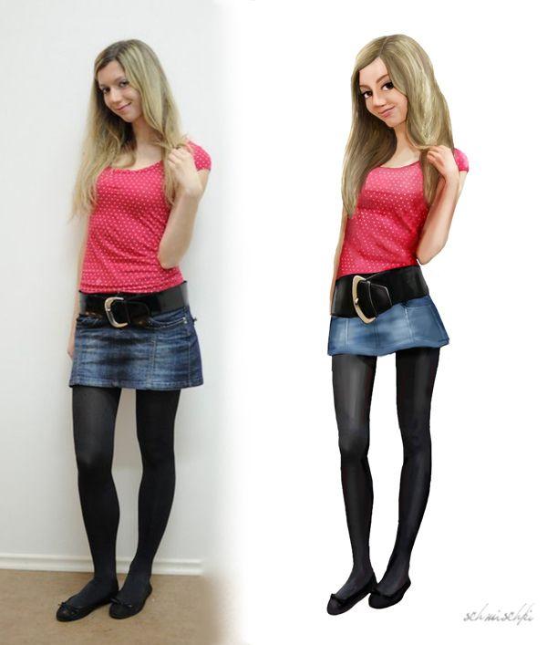 Monika-Before and after :) by schmischki .com, via Behance