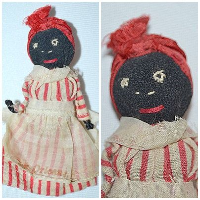 Vintage Small African American Rag Cloth Doll New Orleans Souvenir by DodiesDrawer on Etsy