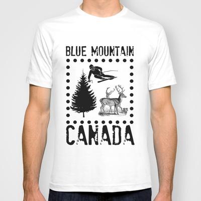 Ski Deer Tree T-shirt. Love Blue? Here's your 2013 T-shirt by #Patti Friday, #collingwood, #canada, #bluemountain #ski #snowboard