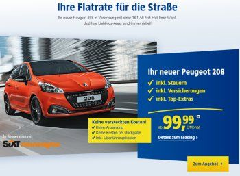 """1&1: Peugeot 208 für 99,99 Euro inkl. Steuern und Versicherung zum Handyvertrag https://www.discountfan.de/artikel/technik_und_haushalt/11-peugeot-208-fuer-9999-euro-inkl-steuern-und-versicherung-zum-handyvertrag.php Mit einer """"Flatrate für die Straße"""" geht 1&1 jetzt an den Start: Discountfans können sich zum Handyvertrag einen Peugeot 208 zum Schnäppchenpreis von 99,99 Euro pro Monat sichern. Das Besondere dabei: Versicherungen und Steuern sind im Prei"""
