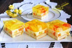 Lekkie orzeźwiające ciasto idealne na upalne dni... w optymistycznych kolorkach, bez włączania piekarnika, nie może się nie udać, polecam :)...