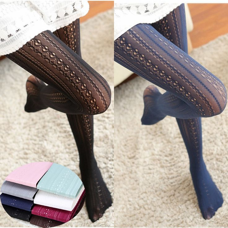 Spring Summer Girls Tights Hollow Striped Sexy Stockings Women Female Lolita Nylon Tights Japanese Pantyhose With Foot Hot Sale