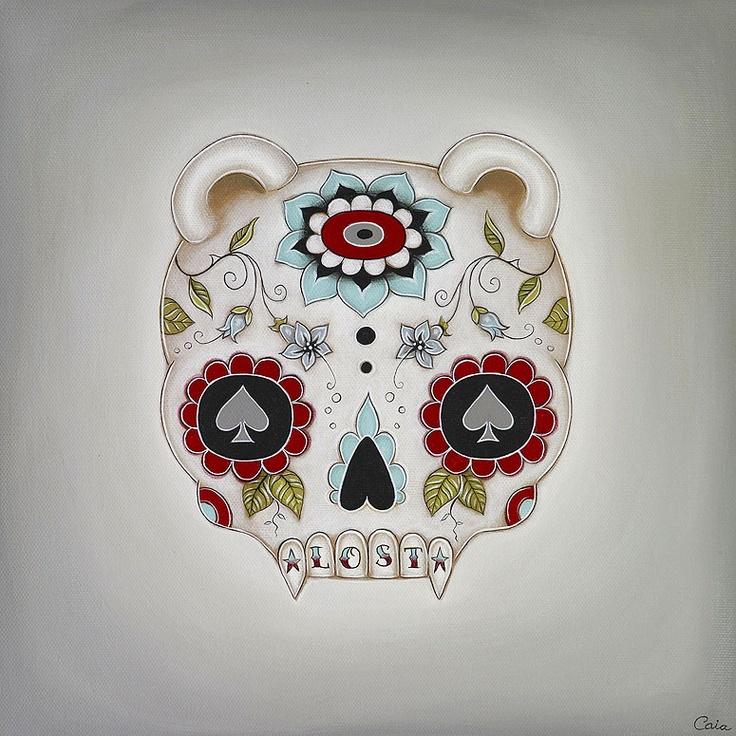 Caia Koopman - Lost: Lost, Caia Koopman Love, Artists Work, Sugar Skull, J B Griffith Caia Koopman, Koopman Artwork, Skull Art, Art Illustration 12, Fabulous Art Illustration