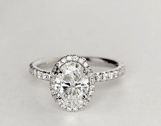 1.5 Carat Diamond Blue Nile Studio Oval Cut Heiress Halo Diamond Engagement Ring | Recently Purchased | Blue Nile #diamondhaloring #weddingring