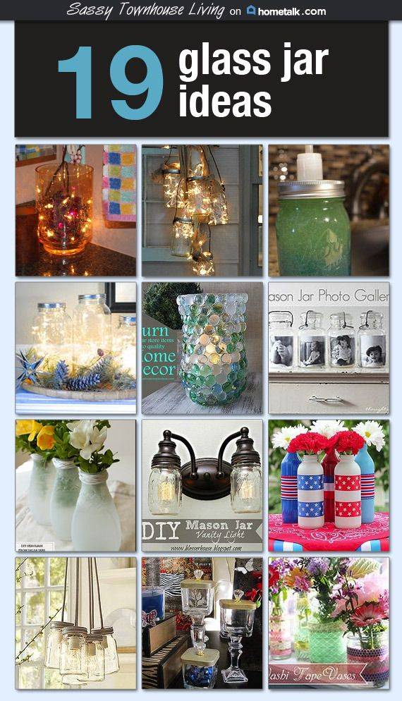 19 Glass Jar Ideas - Featured at Hometalk! Come check out these beautiful, fun, and inexpensive to transform your glass jars into something wonderful and practical!