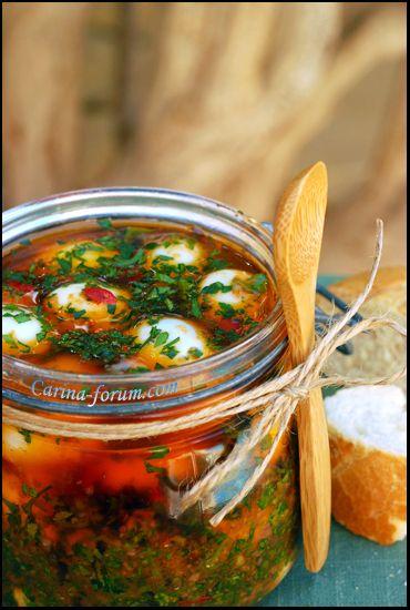 Маринованные яйца по - пьемонтски