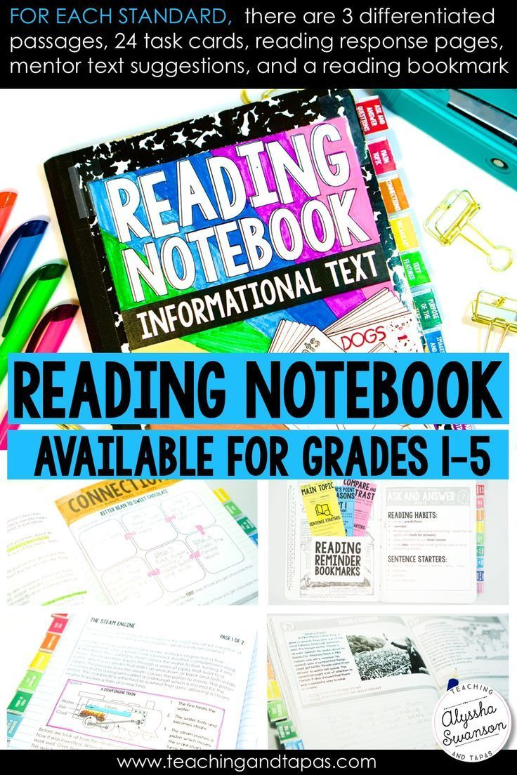 These Interactive Reading Notebooks Are A Dream Setup For Teachers For Each Standard There Are 3 Dif Reading Notebooks Teaching Interactive Notebooks Reading [ 1104 x 736 Pixel ]