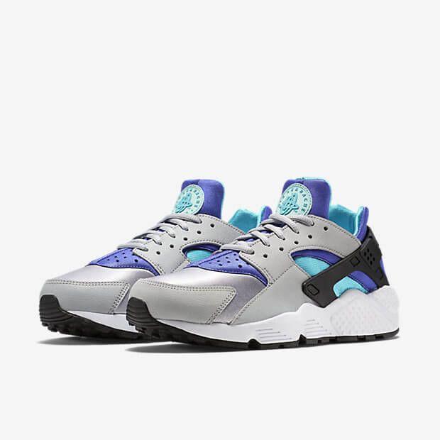 Nike Air Huarache Womens Teal Grey