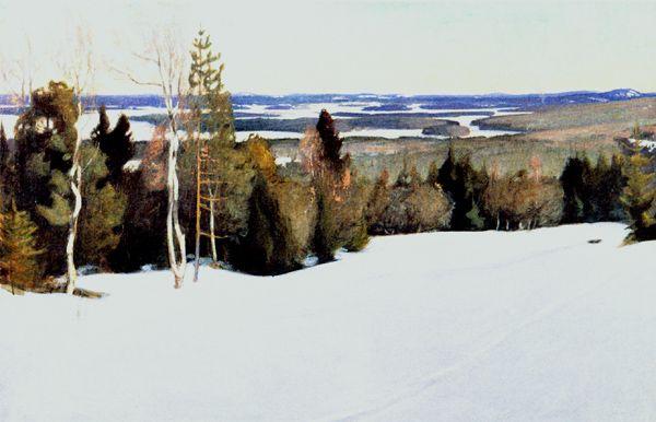 Talvinen maisema Väisälänmäeltä.  Pekka Halonen