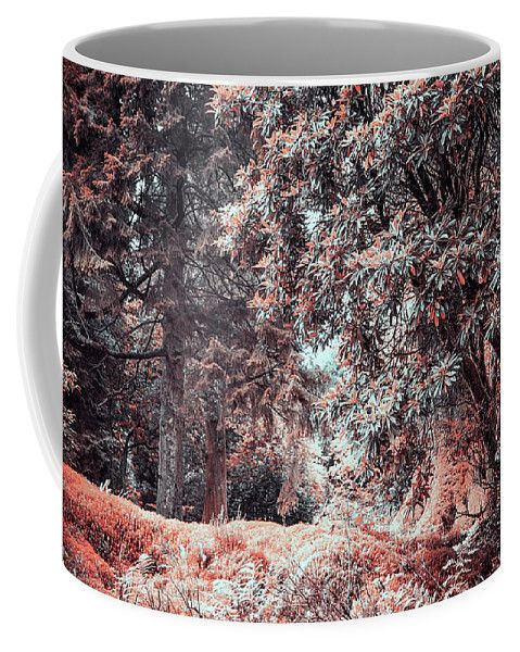 Jenny Rainbow Fine Art Photography Coffee Mug featuring the photograph Rhododendron In Benmore Botanic Garden. Nature In Aline Skin by Jenny Rainbow