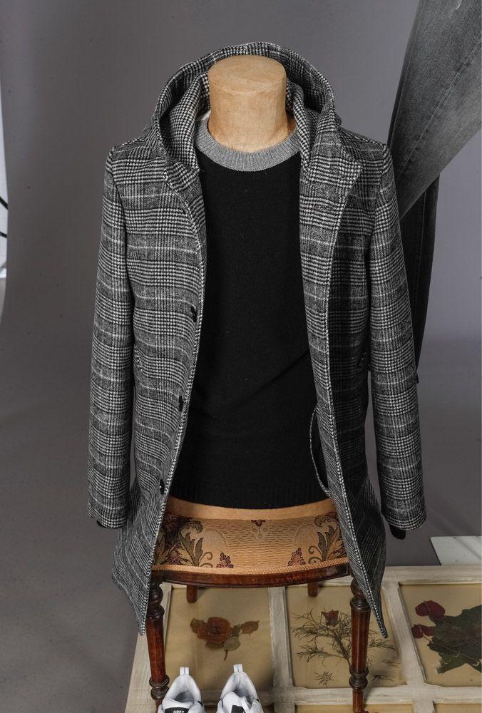 DESIDERIO boutique DANIELE ALESSANDRINI GREY uomo cappotto