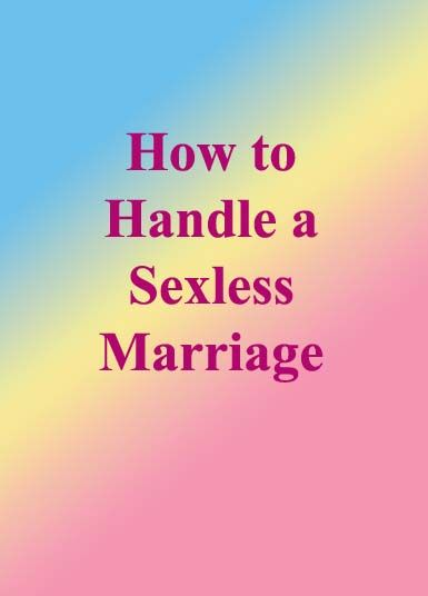 how to handle a sexless marriage