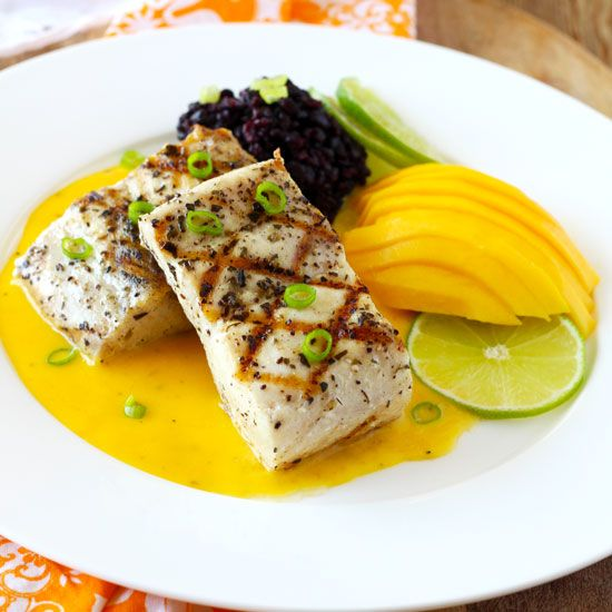 Grilled Mahi Mahi with Mango Lime Butter Sauce is easy enough for week night meals and elegant enough for special occasions. You'll have dinner ready in 30 minutes!
