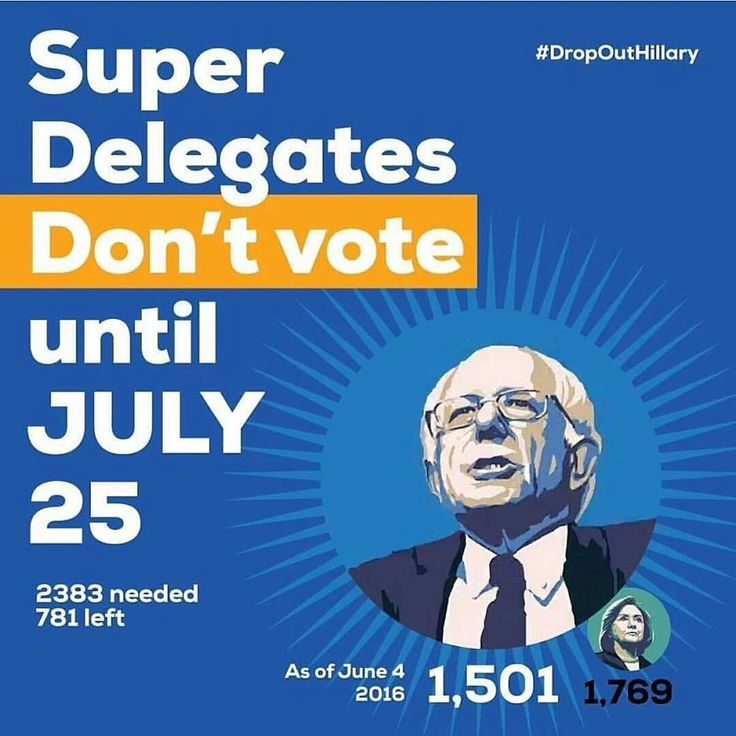 Super Delegates don't vote until July 25th. HILLARY HAS NOT WON THE NOMINATION!!!!