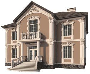Мы поможем подобрать дизайн фасада дома и изготовить декоративный фасад дома в…