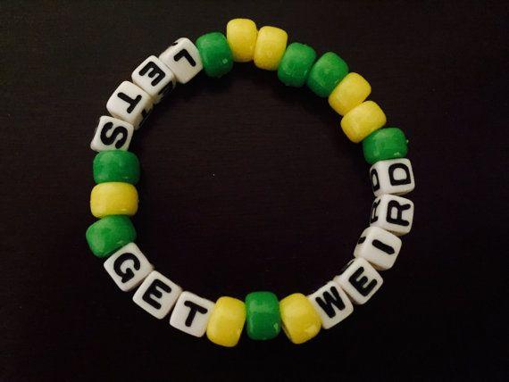Let's Get Weird Kandi Bracelet by KandilandUSA on Etsy
